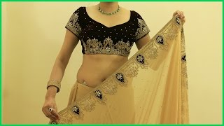 Proper Saree Draping Video | How To Wear Heavy Saree Blouse(Sari)