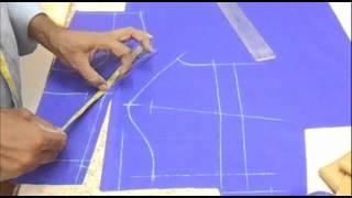 How To Cut Plain Blouse:Priences Cut Blouse(plain choli) Cutting Method