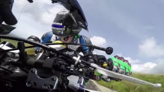 Ian Hutchinson's Crash in the Isle of Man TT 2017 Senior Race