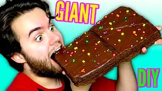 DIY Giant Cosmic Brownie! - HUGE Strawberry Shortcake Rolls! - GIANT Little Debbie Snacks Part 2 DIY