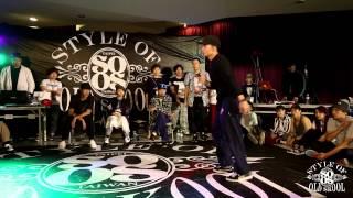 Locking Battle Semifinal 2 Momoka vs Benson   20150425 Style Of Old Skool Taiwan Vol.3