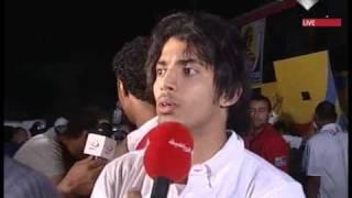 عبدالعزيز هيكل وذياب عوانه بعد مباره فنزيلا