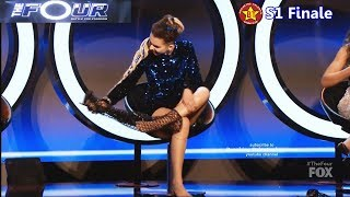 Zhavia Takes Off Boots / High Heels Shoes for the Challenge as Told by Diddy earlier The Four Finale