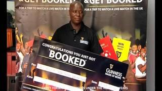 Guinness Get 'Booked' Ksh.100,000 Winner Patrick Wambua