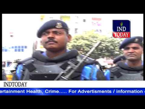 RAF March in Old Hyderabad as Hyderabad on red alert till Republic Day