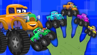 Happy and Sweety |Monster Truck Finger Family | Truck Song | Children Car Rhyme