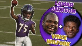 What if Lamar Jackson And VINCE WILFORK Combined into One Player?! Madden 19