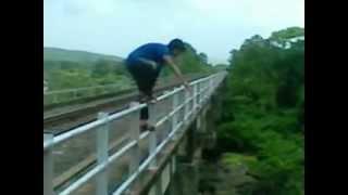 vicky mishra stunt..jump wih 100 feet