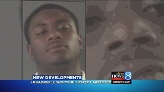 Quadruple shooting suspect arrested