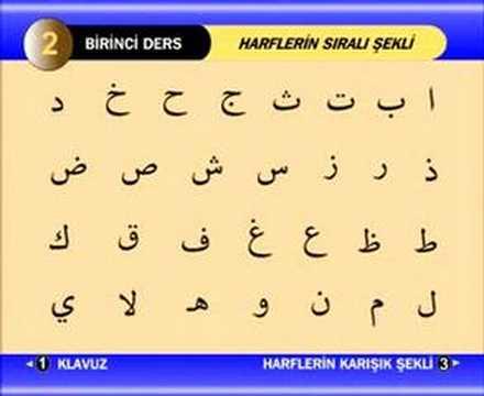 Kuran Öğretmeni Harflerin Sıralı Şekli 1 30