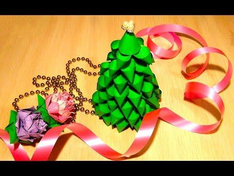 Easy DIY Christmas tree - 3 ideas - Paper Christmas tree. Christmas Decoration