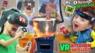 Hello Neighbor Kitchen Cooking VR Game (FGTEEV Makes Food in Virtual Reality)