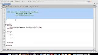 إحترف HTML في 46 دقيقة للأستاذ عبد الله عيد (تجميعية دروس ).