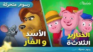 الأسد والفأر + الخنازير الثلاثة قصة للأطفال الرسوم المتحركة رسوم متحركة