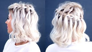 HOW TO: Waterfall Braid Short Hair Tutorial | Milabu