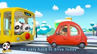 City Hero - Baby Panda Cleaner | Sweep Snow off the Street | Jobs and Professions Songs | BabyBus