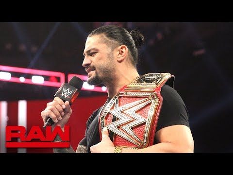 Xxx Mp4 Roman Reigns Relinquishes The Universal Title To Battle His Returning Leukemia Raw Oct 22 2018 3gp Sex