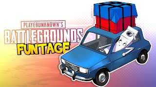 BATTLEGROUNDS FUNTAGE! - Airdrop Crate BANDIT! (PUBG Funny Moments)