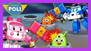 Duel with monsters with a hammer! | English play for Kids | Robocar Poli Game