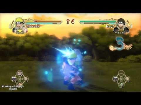 Naruto Ultimate Ninja Storm 057 Naruto vs Neji going kyuubi before attacking