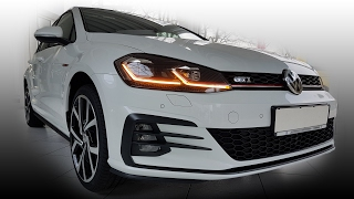 VW Golf 7 MkVII GTI Facelift Update GP 2018 LED Lichter + Active Info Display animierte Blinker