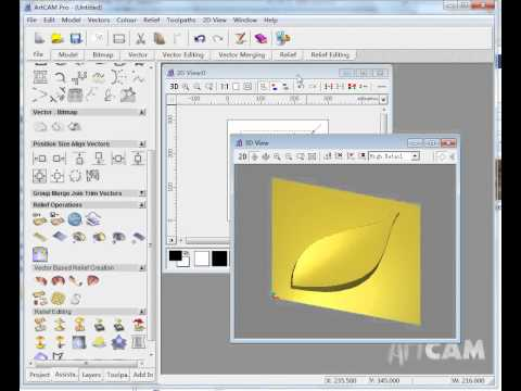 draw 3D tool path in artcam