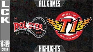 KT Rolster vs SKT Highlights All Games - LCK Week 6 Day 3 Spring 2017 - KT vs SKT All Games
