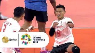 Highlight Bola Voli Putra - Indonesia vs Thailand | Asian Games 2018