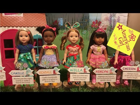 American Girl Doll Store Walkthrough with a boy. Displays and ideas.