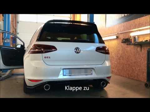 Underground Exhaust VW Golf 7 GTI Clubsport Stage 3 Sound - Klappenauspuff Sound