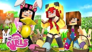 VIREI A COELHINHA DA PÁSCOA E DEI DOCES PARA AS MENINAS #14 - MY LITTLE GIRLS - Server Minecraft