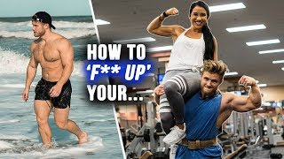 Bear Mode on the Beach?? | Couple's Leg Workout with Steph
