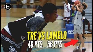 Gets HEATED!! LaMelo Ball 56 Points vs Tre Gray 46 Points at adidas Summer Championship!!