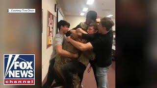 Heartwarming Video: Teens break down at hero coach's surprise