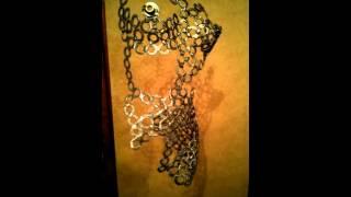 Scrap art - woman metal torso....