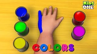 Learn Colors For Kids |  Hand Body Paint | Baby Hulk Teach Colors - KidsOne