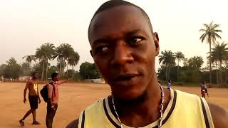 AIAH BONA SPEAKS TO ALUSINE REHME WILSON AFTER HE RESUMED TRAINING WITH KATARA FOOTBALL CLUB OF TOWN