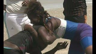Salon brawl as women fight over husbands
