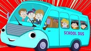 wheels on the bus | nursery rhymes | kids songs | bus song | kids tv nursery rhymes for children