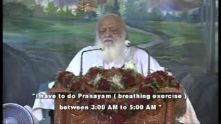 How to wake up early in morning tips by Sant Shri Asaram ji Bapu [English Subtitle]