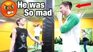 TRYING TO GET KICKED OUT OF SKYZONE! *BREAKING ALL THE RULES*
