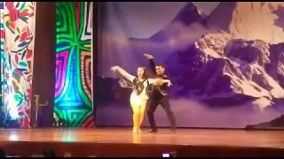Rolando Cañari y Tifani Huaracco en el Concurso Nacional de Salsa 2017 Semifinal