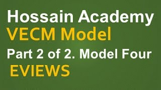 VECM. Model Four. Part 2 of 2. EVIEWS