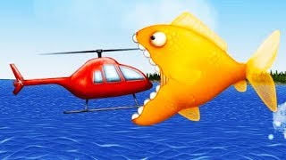 GIANT Goldfish EATS EVERYTHING! - Tasty Blue Gameplay - Game like IO game