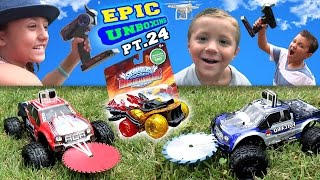 Monster Trucks Attack Golden Hot Streak! Epic Unboxing Part 24 (Skylanders Superchargers Fun!)