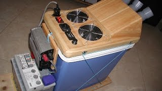 HOMEMADE DIY SOLAR POWERED AIR CONDITIONER / COOLER 12v DC or 220v AC ***AIRCONtraption OVERKILL***