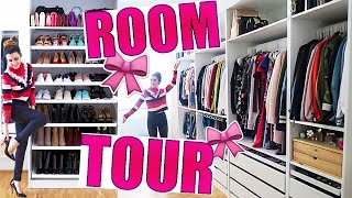 ROOM TOUR! ANKLEIDEZIMMER, KLEIDERSCHRANK & BEAUTY ROOM 🎀 IKEA DIY WALK IN CLOSET | KINDOFROSY