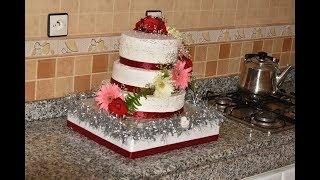 كيك الأعراس و المناسبات بكل تفاصيل بدون عجين سكر ولا جيلاتين ولا مولي كيك ناجحة 100% / wedding cake