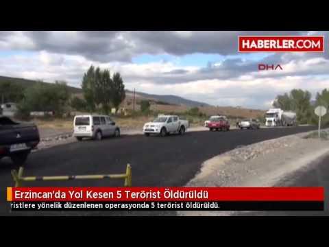 Erzincan'da Yol Kesen 5 Terörist Öldürüldü
