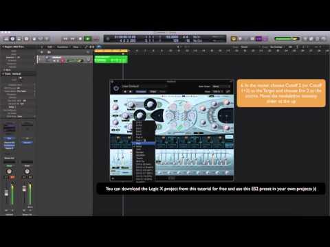How to make Future Bass super Saw in ES2 (Logic Pro)
